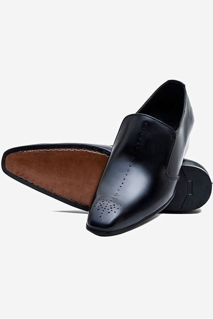 Footprint - Black Classic Leather Slip On