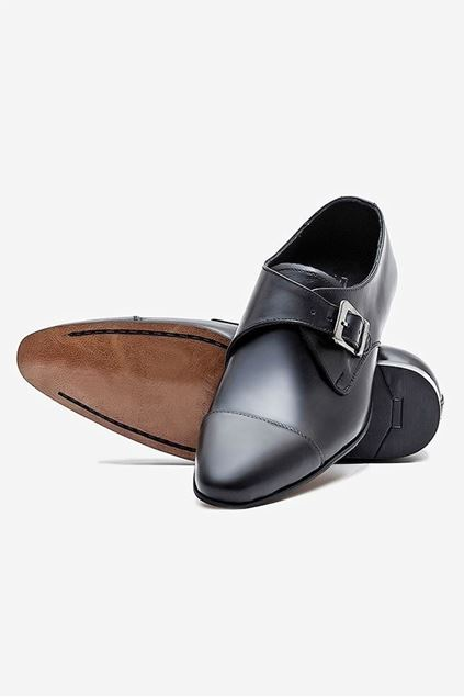 Footprint - Black Formal Leather Monk