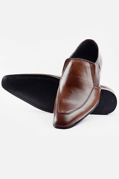 Footprint - Brown Formal Leather Slip On