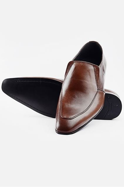 Footprint - 	Brown Formal Leather Slip On