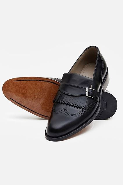 Footprint - Black Casual leather Loafer Brogue