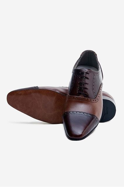 Footprint - Brown Fashion Leather Semi Brogue