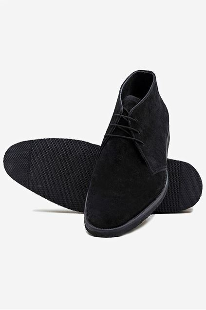 Footprint - Black Causal Suede Lace Up
