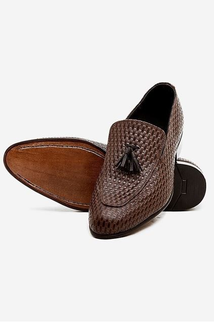 Footprint - Brown Eid Collection Textured Slip