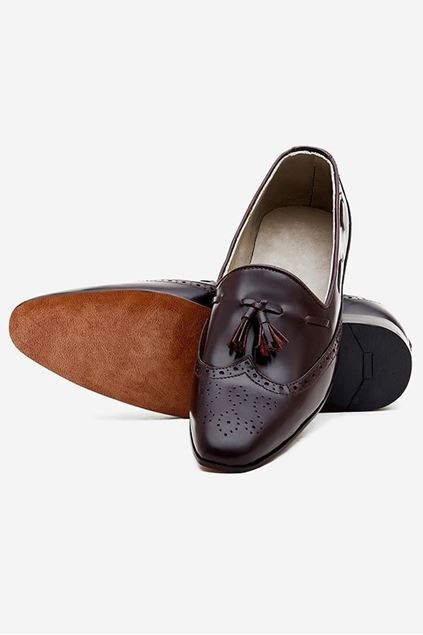 Footprint - Brown Eid Collection Leather Pumps Brogue