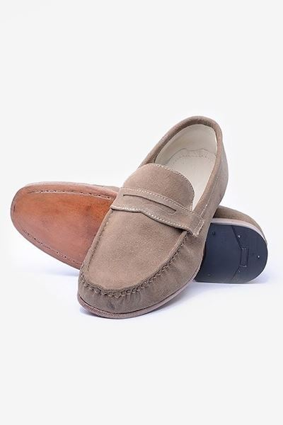 Footprint - Beige Classic Suede Loafer