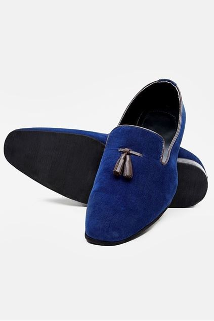 Footprint - Blue Casual Velvet Pump