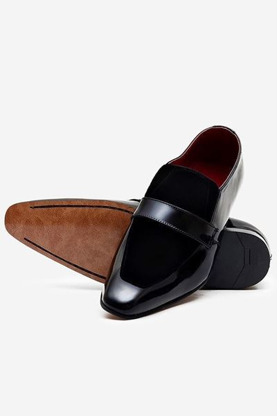 Footprint - Black Casual Velvet Leather Loafers