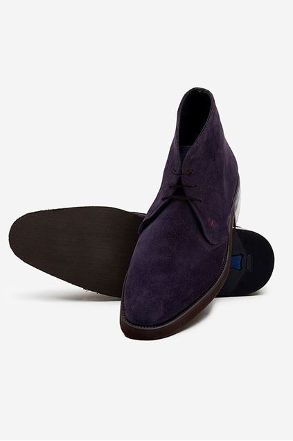 Footprint - Purple Causal Suede Leather Lace Up