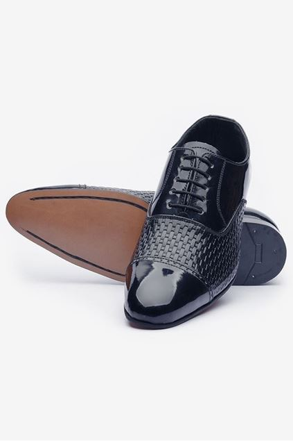Footprint - Black Fashion Leather Oxford
