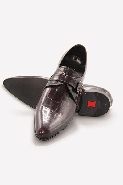 Footprint - Brown Fashion Textured Monk