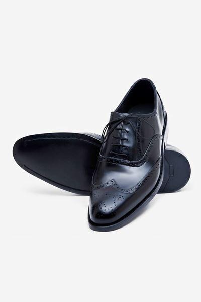 Footprint - Black Classic Leather Brogue