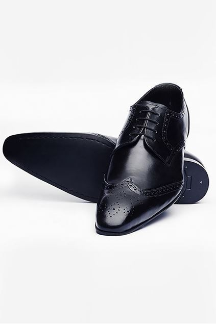 Footprint - Black Classic Leather Brogue