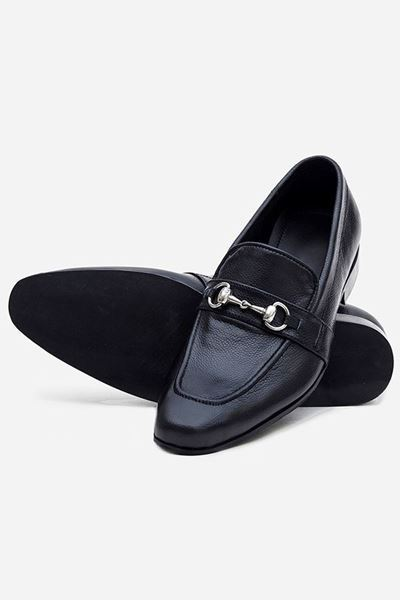 Footprint - Black Casual Leather Loafer