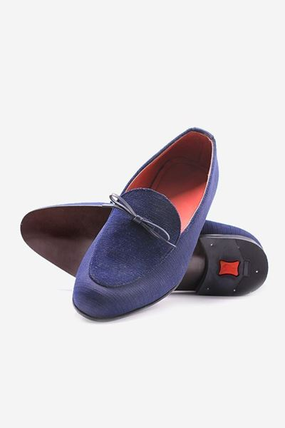 Footprint - Blue Casual Leather Suede Slip On