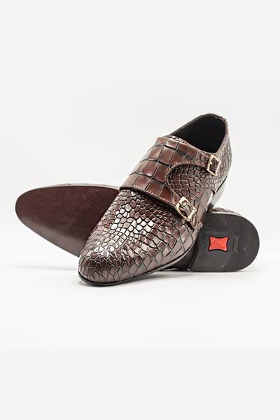 Footprint - Brown Latest Reptile Texture Double Monk