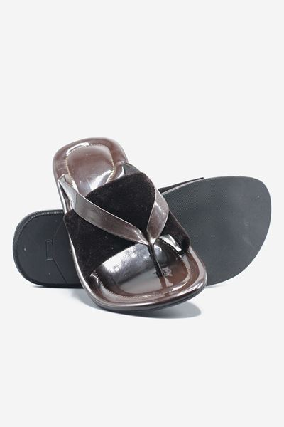 Footprint - Brown Casual Leather Slippers
