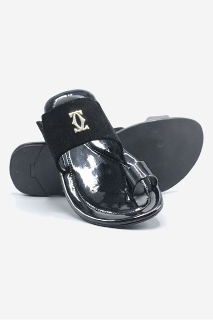 Leather Velvet Chappal